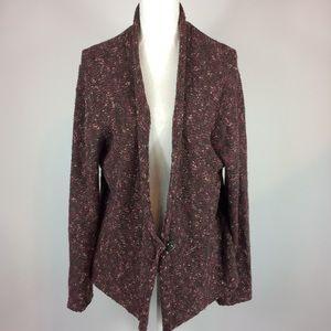 J. Jill Open Front Button Cardigan Sweater XL